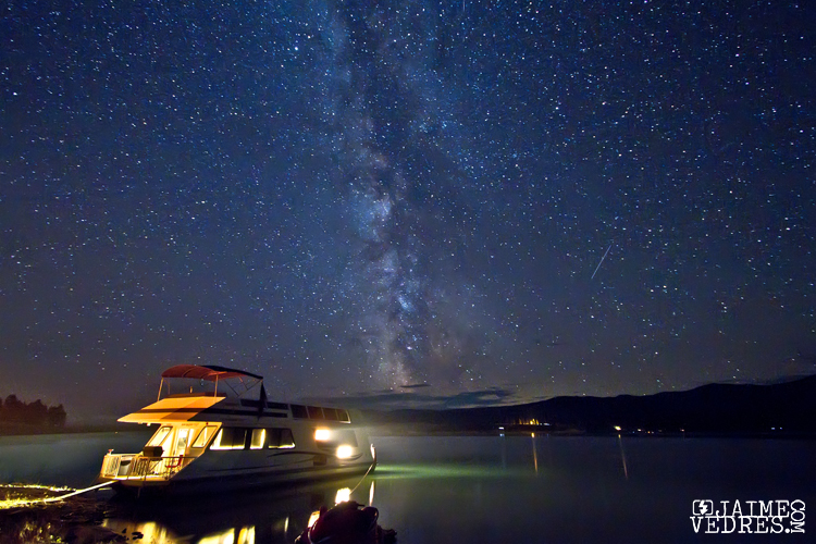 Koocanusa Lake under the Milky Way