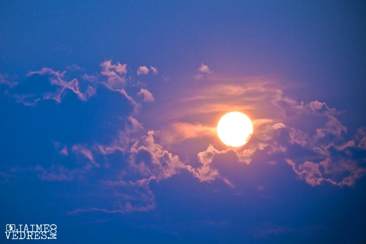 Hazy Sunset in Lethbridge