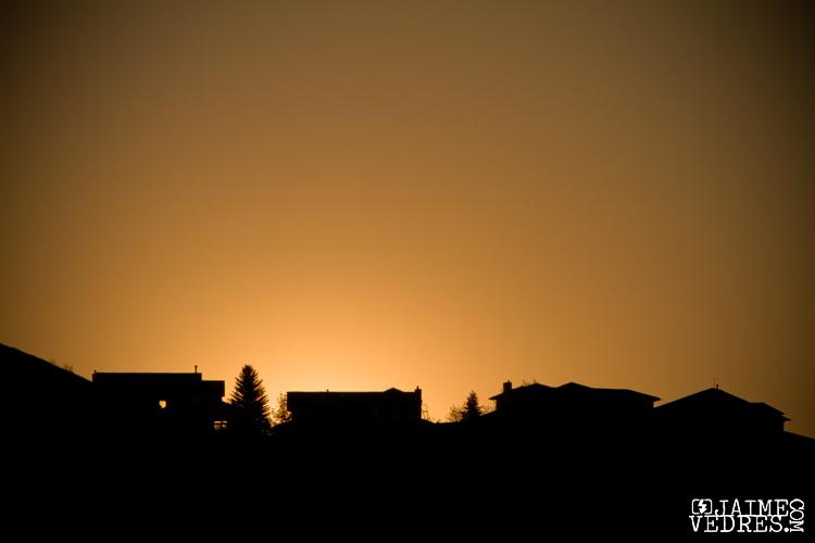 Sun setting behind the westside