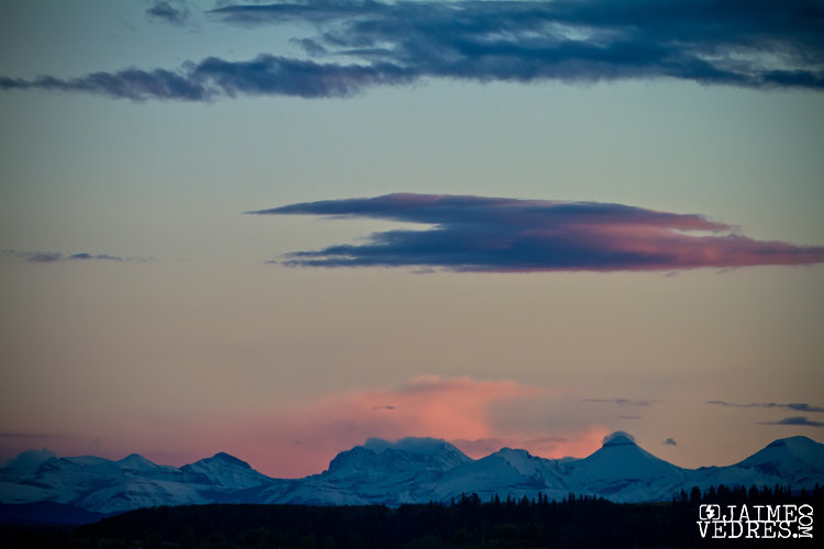 Rocky Mountains at Dusk