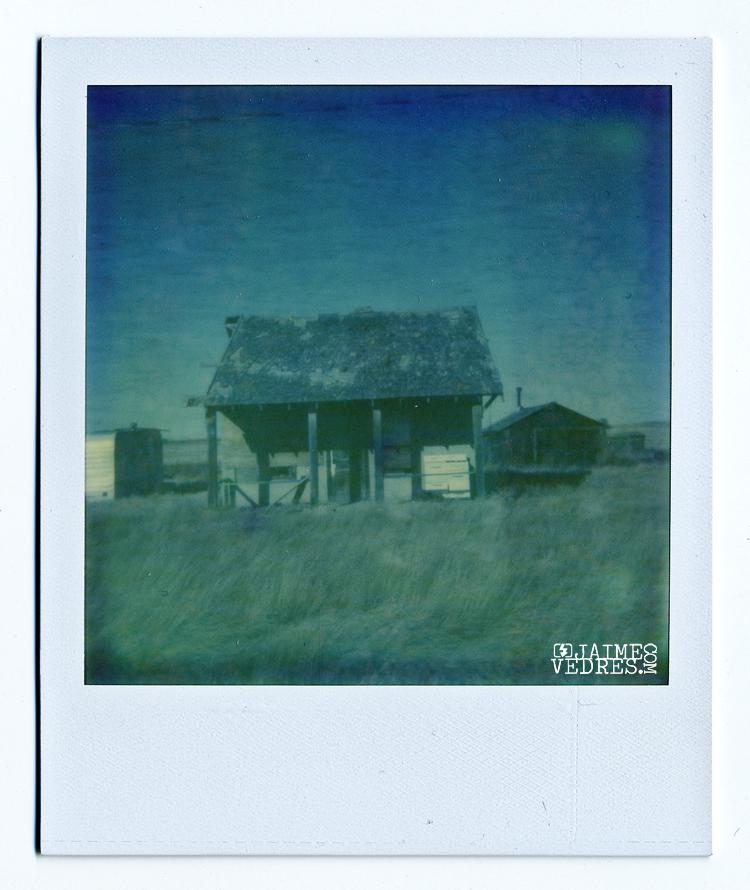 Alberta Ghost Town Polaroid