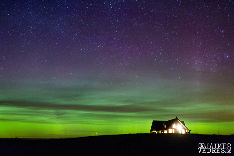 Aurora, Northern Lights Cabin, Waterton, Alberta, Travel Alberta