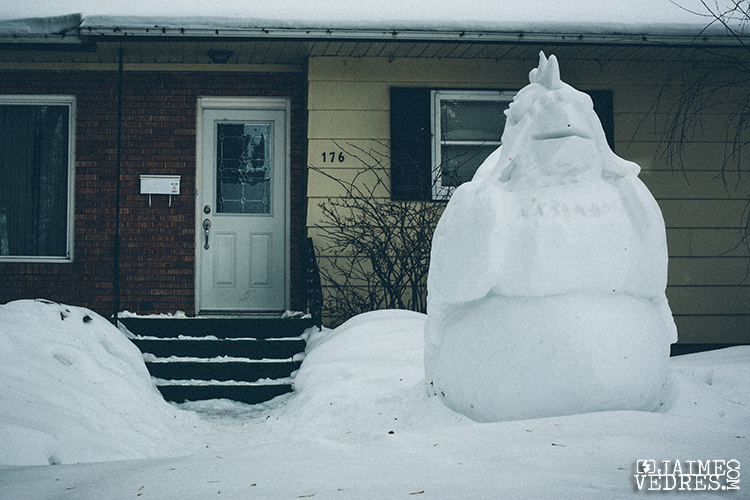 Yorkton Sask, Snow Sculpture