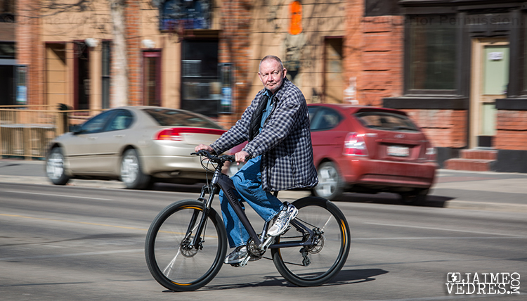 Lethbridge Cyclist, Lethbridge Street Photographer