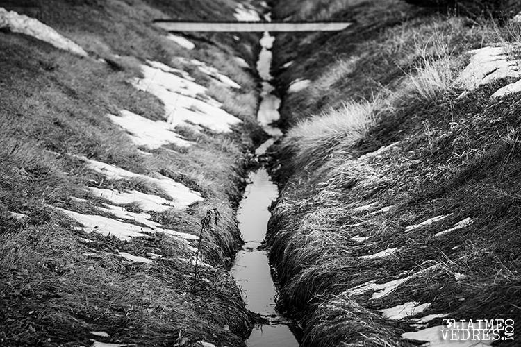Ditch in Taber, Alberta