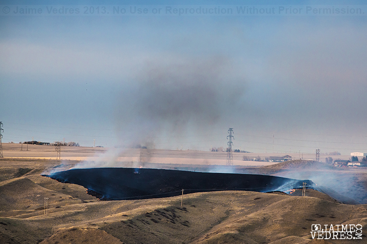 Lethbridge Northside Grass Fire