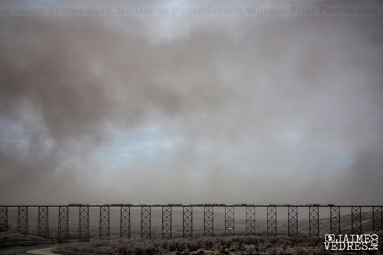 Lethbridge Dust Storm, Highlevel Bridge