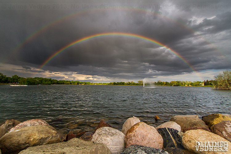 Double Rainbow, Henderson Lake, Lethbridge