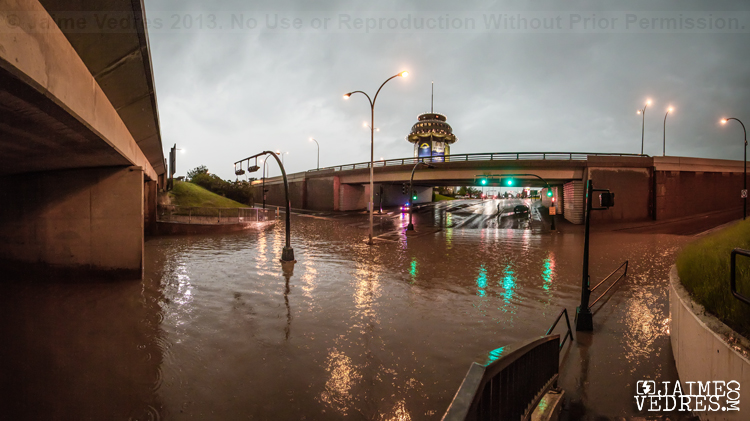 Flood Under the Mayor Magrath Bridges