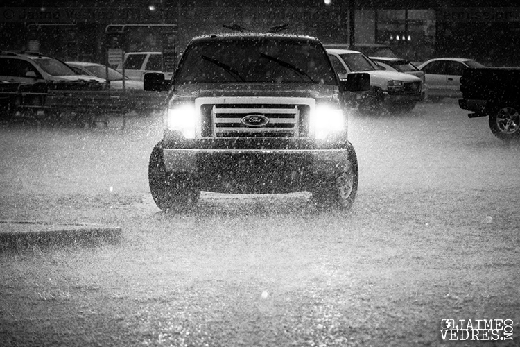 Ford Truck in the rain