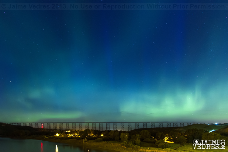 Lethbridge Photographer, Northern Lights, Highlevel Bridge