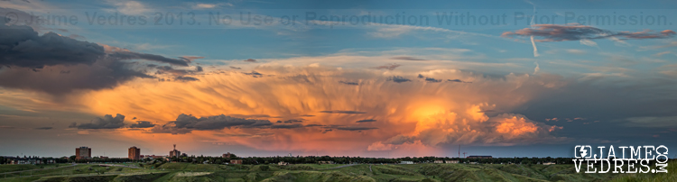 Storm Cloud Over Lethbridge Pano