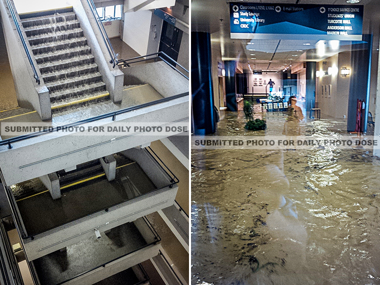 UofL Flood, Uleth Flood, University of Lethbridge Flooded