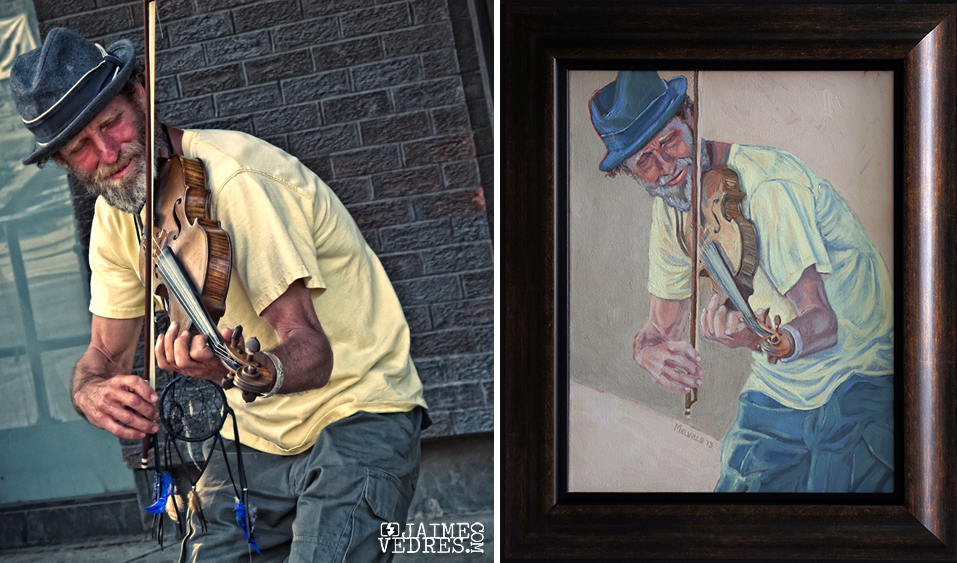 Toronto Busker Painting