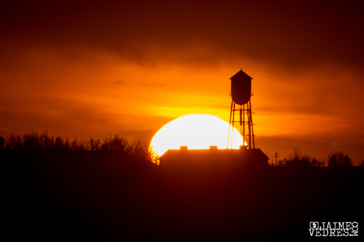 Lethbridge Mine Watertower, Sunset
