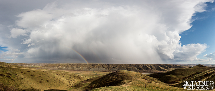 Rainbow Panoramic - Lethbridge, Coulees