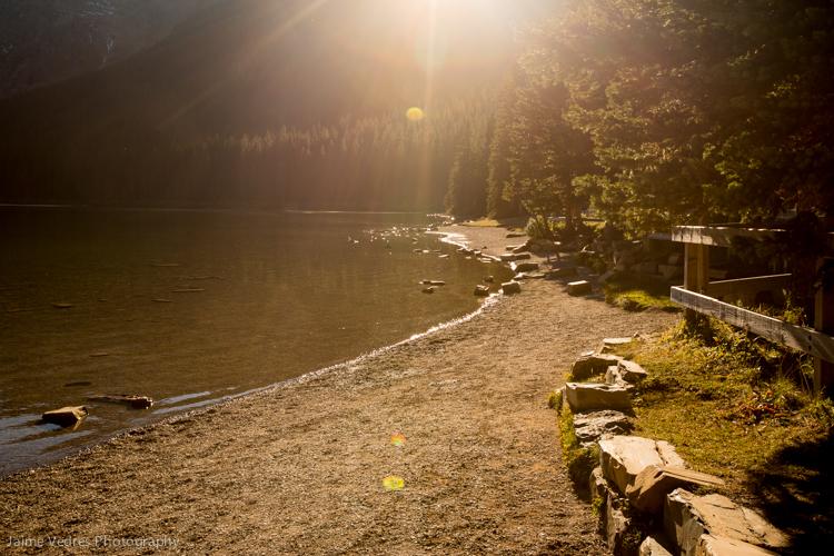 Cameron Lake, Sunset, Waterton