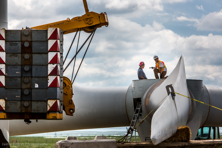 Alberta Windmill Construction, Commercial Photographer