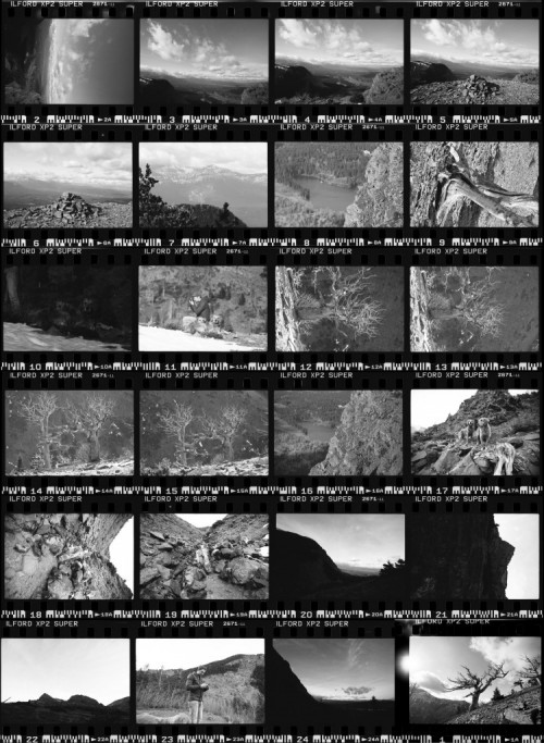 Film Contact Sheet, Lethbridge, Film Photographer