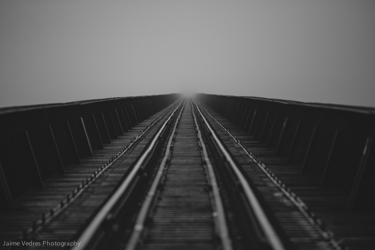 Foggy Train Tracks