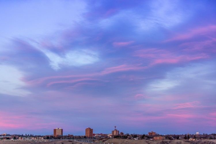 Lethbridge Skyline, Sunset