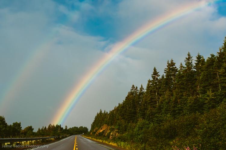 Rainbow, Cabot Trail, Nova Scotia