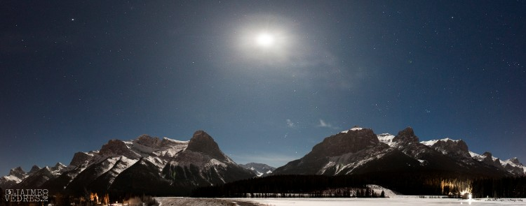 Canmore Night Sky Panoramic