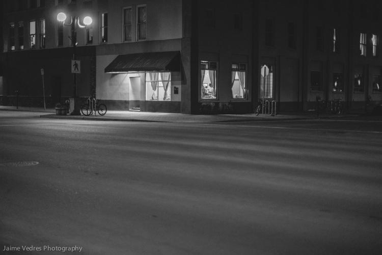 Lethbridge Hotel at Night