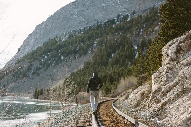 Walking the rails. Train Tracks