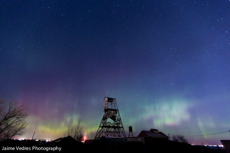 Lethbridge Northern Lights, Aurora, Abandoned Mine