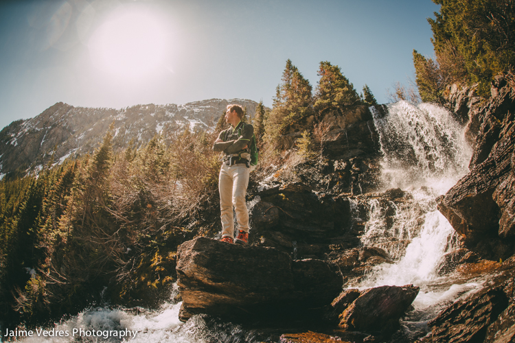 Riley Epp, Rowe Lake Valley, Waterton, Waterfall