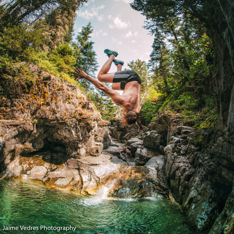 Red Rock Canyon, Cliff Jump, Waterton