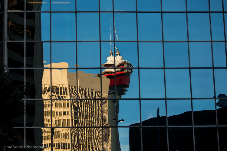 Calgary Tower Reflection