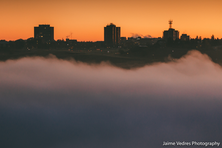 Lethbridge Skyline Fog