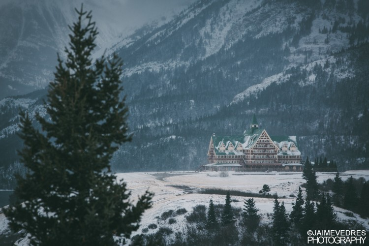 Prince of Wales Hotel, Waterton Winter