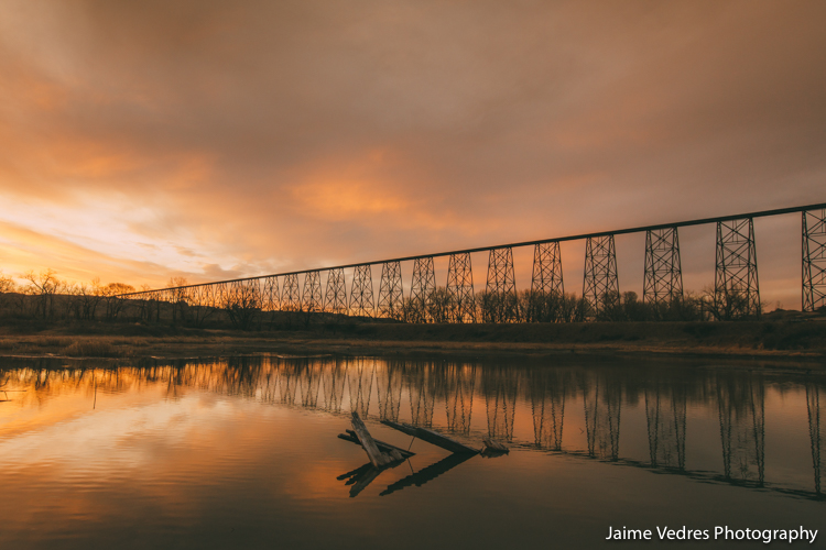 Lethbridge, Bridge, Sunrise