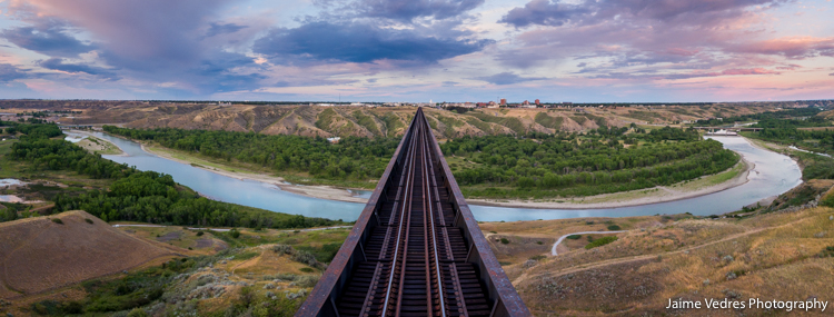 Lethbridge Highlevel Bridge Aerial