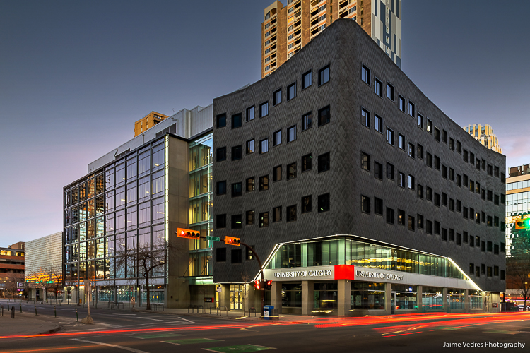 Architectural Photo of the University of Calgary downtown location.
